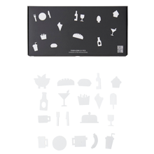 Design-letters-food-mad-icons-hvid-white-message-board