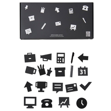 Design-letters-office-icons-black-sort-kontor-message-board