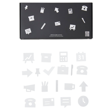 Design-letters-office-icons-hvid-white-kontor-message-board