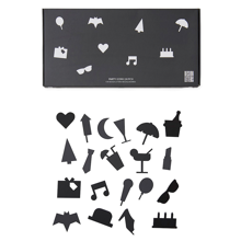 Design-letters-party-fest-icons-black-sort-message-board