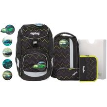 ergobag-pack-Drunter-und-DrueBaer-horsepowbear-skoletaske-school-bag-set-saet-green-groen