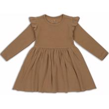 Konges-Sloejd-siff-dress-kjole-almond-brun-brown