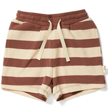 kongessloejd-lou-shorts-striped-brown-striber-brune
