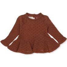 Konges-sloejd-fortune-frill-blouse-pointelle-wool-toffee