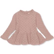 Konges-sloejd-fortune-frill-blouse-pointelle-wool-whisper-pink