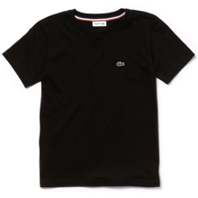 Lacoste-t-shirt-tee-black-sort