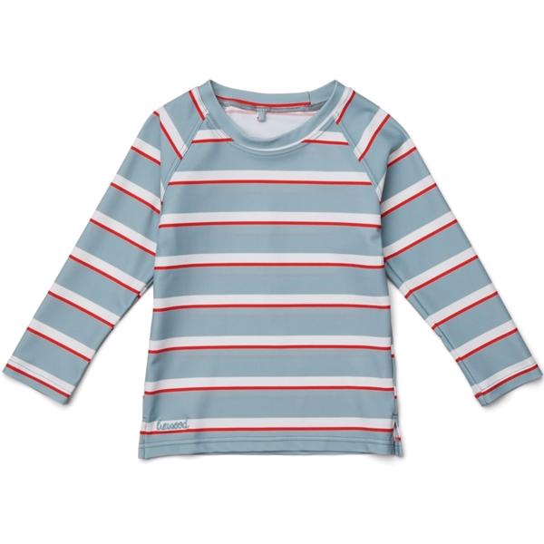 Liewood Sea Blue/Apple Red/Creme De La Creme Noah Badebluse
