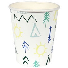 MeriMeri-krus-party-cup-lets-explore-hvid-gron-green-white