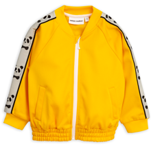Mini-rodini-jakke-jacket-zip-cardigan-gul-yellow-panda-1
