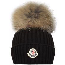 moncler-hue-pels-pom-pom-black-sort-boy-dreng-girl-pige-hat-berretto