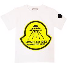 Moncler-t-shirt-hvid-white-yellow-gul