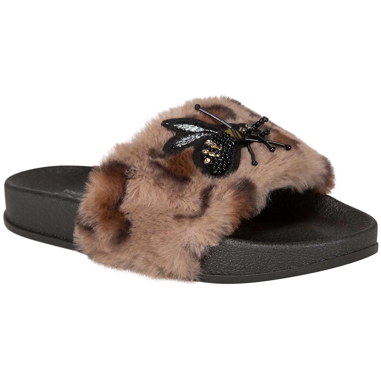 a8e0764d907 Petit by Sofie Schnoor Brown Leopard Sandal Fur