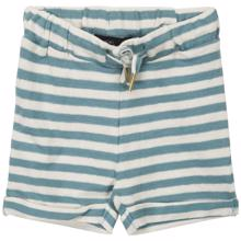 Petit-by-Sofie-Schnoor-shorts-striber-stripes-aqua-off-white-hvid-blaa