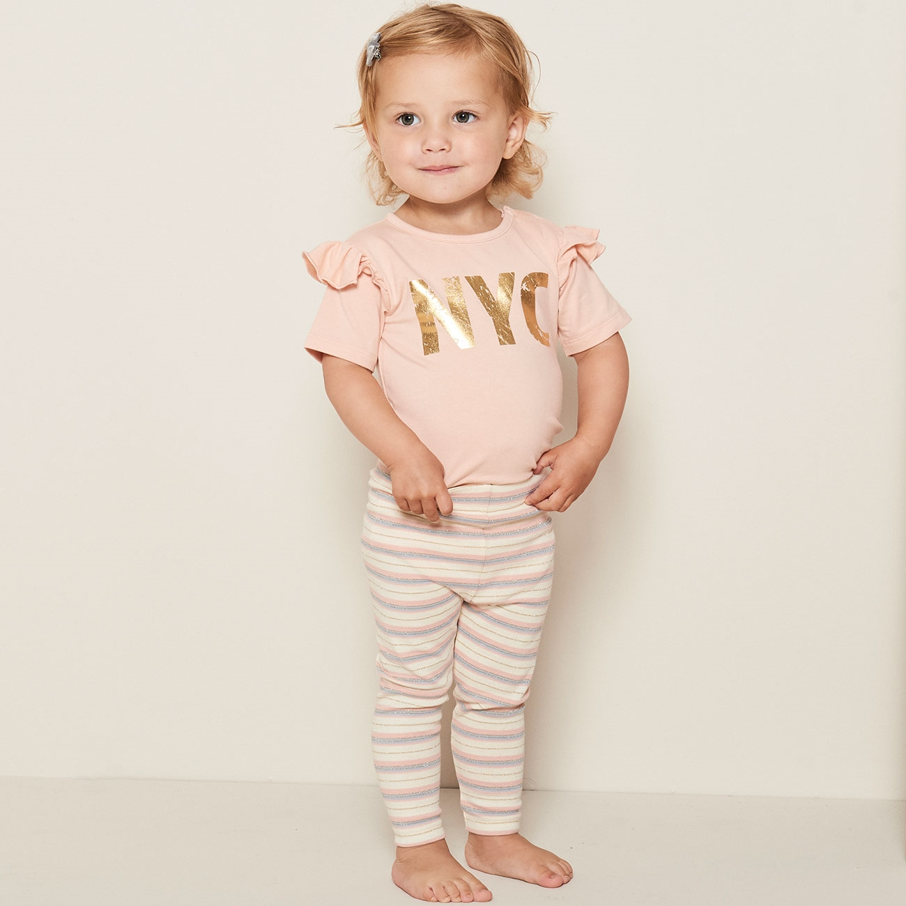 Petit-by-Sofie-Schnoor-leggings-striber-stripes-rose-rosa-gold-guld