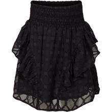 Petit-by-Sofie-Schnoor-nederdel-skirt-black-sort-blonder-fringes