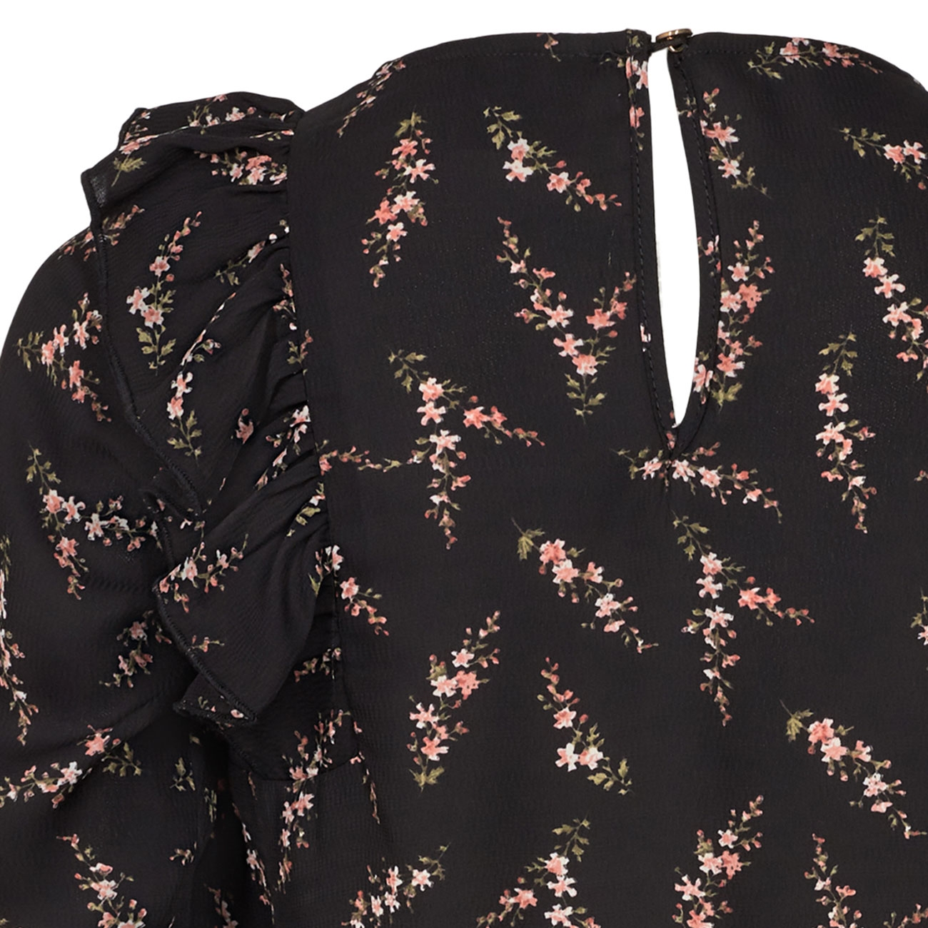 Petit-by-Sofie-Schnoor-shirt-bluse-sort-black-blomster-flowers-rose-rosa