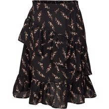 Petit-by-Sofie-Schnoor-nederdel-skirt-sort-black-blomster-flowers-rose-rosa
