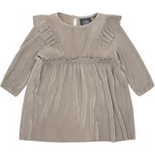 Petit-by-Sofie-Schnoor-dress-kjole-rib-grey-graa-glitter-lurex-flaeser