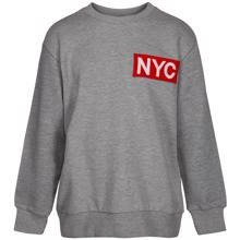 Petit-by-Sofie-Schnoor-sweatshirt-grey-graa-red-roed