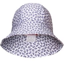 Petit-crabe-sunhat-solhat-grey-flowers-graa-blomster