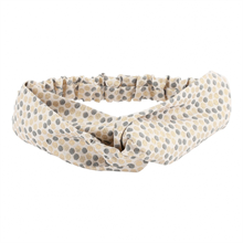 Poppy-rose-headband-dots-prikker-guld-sort-graa