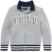 Ralph-lauren-baby-strik-knit-medlyn-withzip-graa-grey-kids-boern