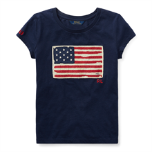 Polo Ralph Lauren Girl Short Sleeved T-shirt Print Newport Navy