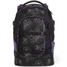 Satch-skoletaske-bag-pack-lilla-purple-Ninja-Hibiscus