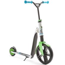 Scoot-and-Ride-Highway-Gangster-scooter-bike-push-loebecykel-loebehjul-white-green-blue-hvid-groen-blaa