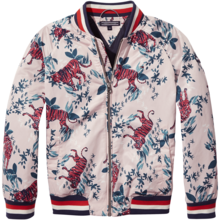 Tommy-hilfiger-bomber-jakke-jacket-tiger-blomster-flowers-red-roed-hvid-white-blue-blaa-navy