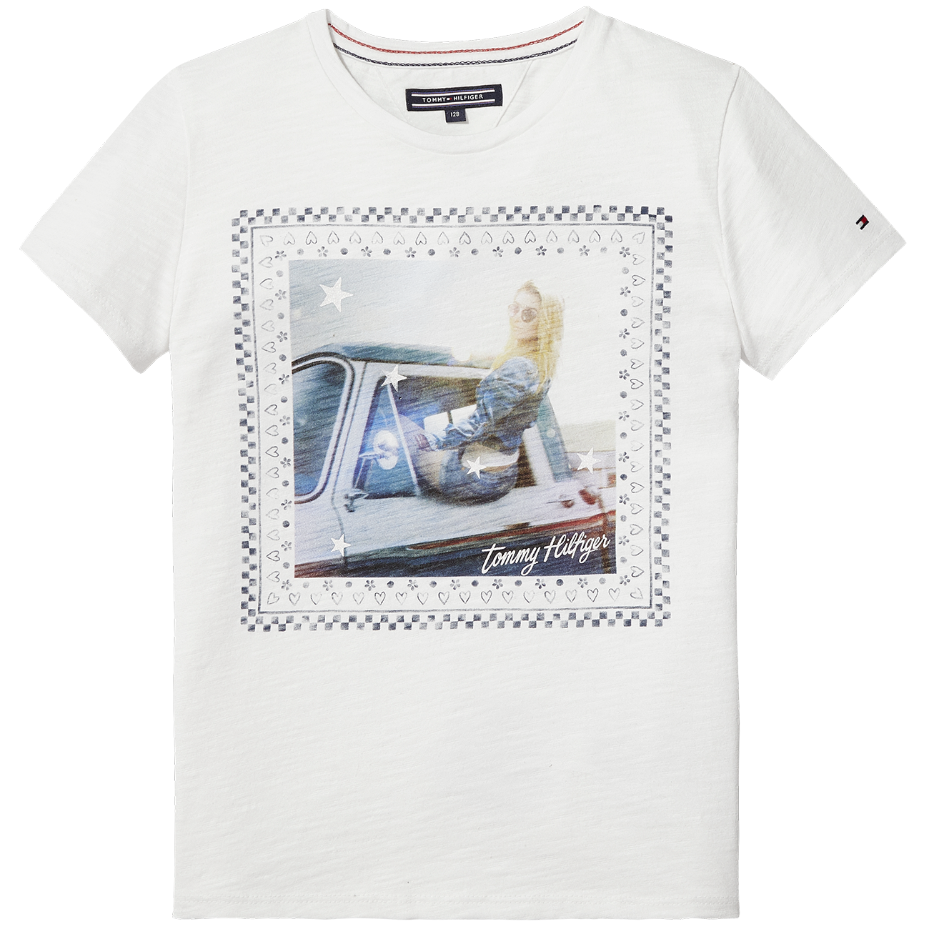 tommy hilfiger girl animated t shirt s s bright white. Black Bedroom Furniture Sets. Home Design Ideas