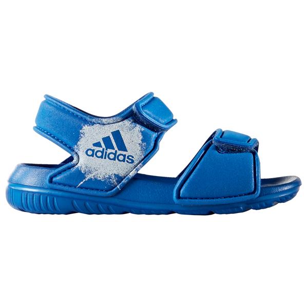 lägsta rabatt grossistuttag nya bilder av adidas Bade Sandaler Blue