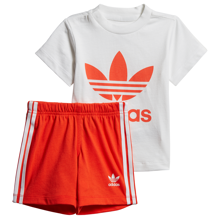 adidas Short Tee Set White/Active Orange