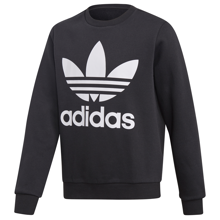 adidas Fleece Crew Sweatshirt Black/White