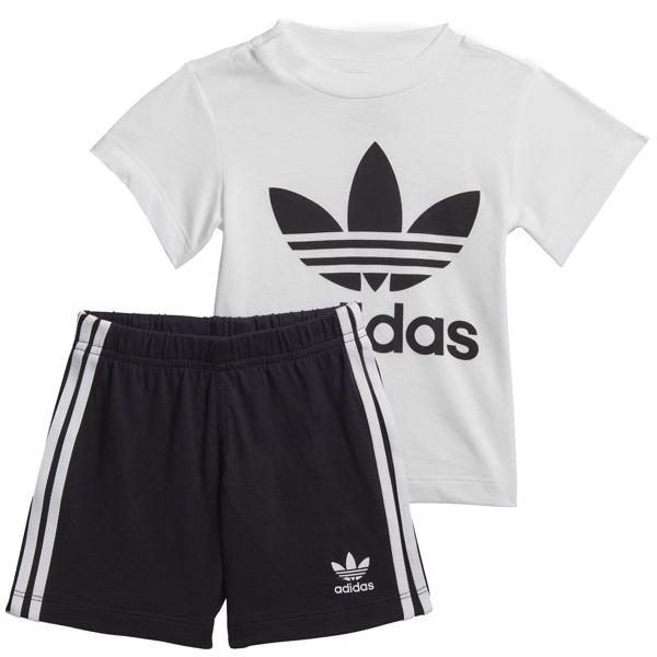 adidas Shorts Tee Set Black/White