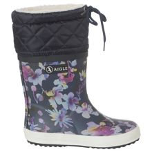aigle-stoevler-thermo-boots-dark-flower-blomster