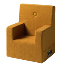 By KlipKlap KK Kids Chair XL Mustard w. Mustard Buttons