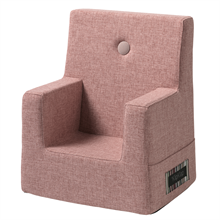 By KlipKlap KK Kids Chair Soft Rose w. Rose Buttons