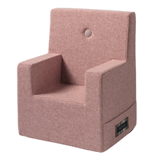 By KlipKlap KK Kids Chair XL Soft Rose w. Rose Buttons