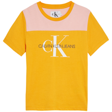 Calvin Klein Colorblock Monogram Tee Butterscotch