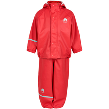 008dd978 celavi-regntoej-bukser-jakke-regnjakke-regnbukser-red-roed-