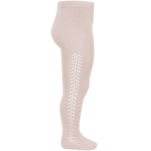 condor-stroempebukser-tights-rib-cotton-bomuld-hulmoenster-lace-old-rose-gammelrosa-2591-1