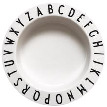 Design Letters White Eat & Learn ABC Dyb Tallerken