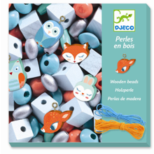 Djeco Perles Wooden Beads Little Animals