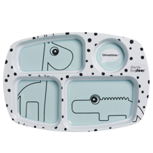donebydeer-compartment-rumopdelt-tallerken-plate-happydots-blue-blaa