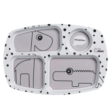 donebydeer-compartment-rumopdelt-tallerken-plate-happydots-grey-graa