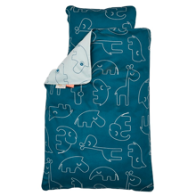 donebydeer-sengetoej-bedlinen-darkblue-blueblaa-animals-sleepy