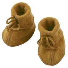 engel-baby-bootees-with-ribbon-futter-uld-virginuld-saffron-melange-yellow-gul-575582-018E