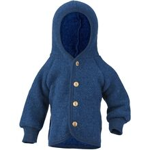 engel-hooded-jacket-jakke-fleece-blue-melange-baby