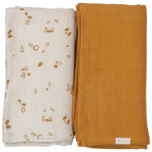 fabelab-swaddles-svoeb-giftbox-solid-pack-2-pack-ochre-pine-cones